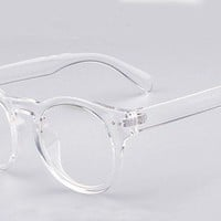 Fashion Round Thick Horn Rim Optical Eyeglass Frame Clear Lens Spectacles 2175