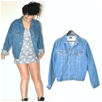 classic LEE denim jacket / vintage 70s 80s RETRO relaxed fit JEAN jacket