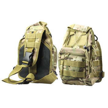 Women\Men Molle Sling Chest Bag Assault Pack Messenger Shoulder Bag CS s mountaineering bags Backpack Camo INY66
