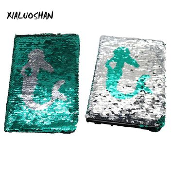 Mermaid Notebook Double-sided sequins diary Office Stationery Student Supplies 1Pc A5 Notebook