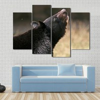 Asiatic Black Bear Looks Up In New Delhi Zoo India Canvas