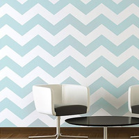 Chevron Allover Stencil - Large scale - reusable stencil patterns for walls just like wallpaper - DIY decor