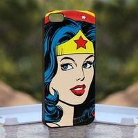 Wonder Women - Print on Hard Cover iPhone 5 Black Case