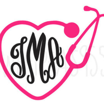 Stethoscope Decal - Nurse Decal - Doctor Decal - Stethoscope Heart Decal