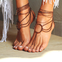 "Women Barefoot Sandal ""Ancient Rome"""