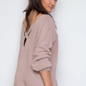 In The Evening Sweater Top - Mocha