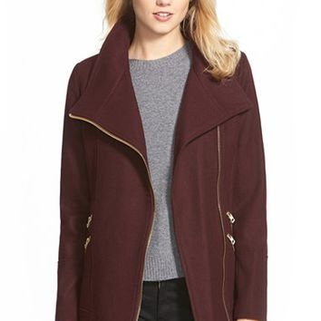 Shop Asymmetrical Wool Coat on Wanelo
