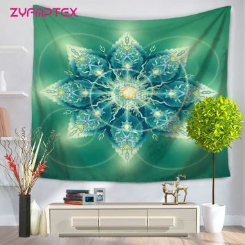 ZYFMPTEX Nature Scenery Tapestry Mandala Wall hanging Indian Boho Style Printing Woven Wall Cloth Tapestries Shawl Beach Towel