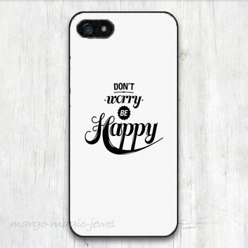 cover case fits iPhone models, unique mobile accessories, don't worry be happy