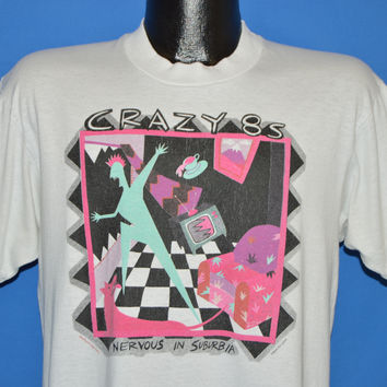 80s Crazy 8s Nervous In Suburbia t-shirt Large