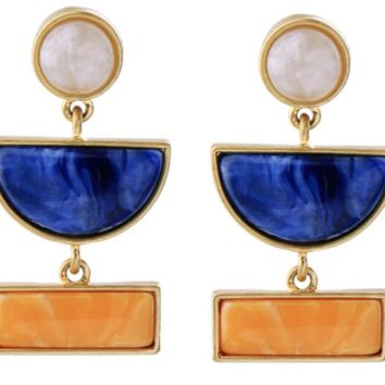 Color Block Earrings