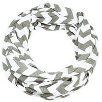 Grey Chevron Infinity Breast Feeding Scarf & Cover