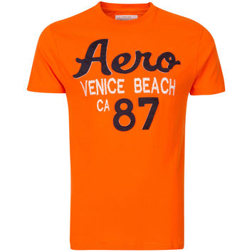 Aeropostale Venice Beach 87 Orange Mens T-Shirt