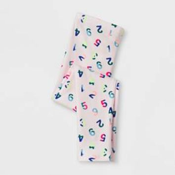 Toddler Girls' Leggings Pants - Cat & Jack™ Cherry Cream