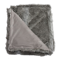 Koala Gray faux fur fiber Pillow