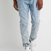 Paneled Acid Wash Joggers