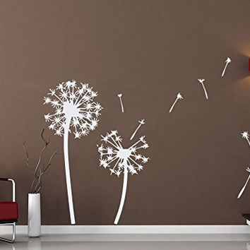 Dandelion Wall Decals Dandelion Sticker Flower Art Floral Design Home Decor Vinyl Decal Sticker Kids Nursery Baby Room Decor NS551