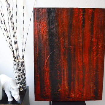 The Pit- an original abstract acrylic painting by FQ Studios