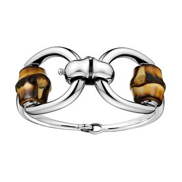 Gucci Bamboo Horsebit Bangle Bracelet in Sterling Silver