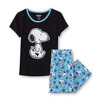 Peanuts By Schulz Snoopy Women's Pajama Top & Pants