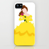 Belle - Beauty and the Beast Disney iPhone & iPod Case by DanielBergerDesign