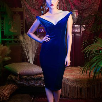 Laura Byrnes California Gilda Dress in Royal Blue