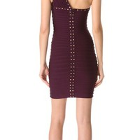 Herve Leger One Shoulder Cocktail Dress | SHOPBOP