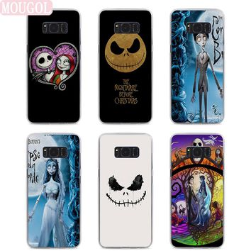 MOUGOL Hot nightmare before christmas Clear hard Phone Case Cover for Samsung S8 S8Plus S6 S7 edge S5 s4 Note8 Note5