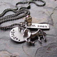 Personalized Custom Handstamped Horse by EquineExpressionsbyD