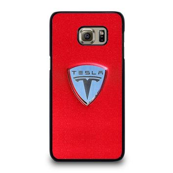 TESLA MOTOR LOGO Samsung Galaxy S6 Edge Plus Case Cover