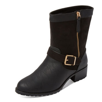 Charles by Charles David Women's Janelle Suede & Leather Boot - Black