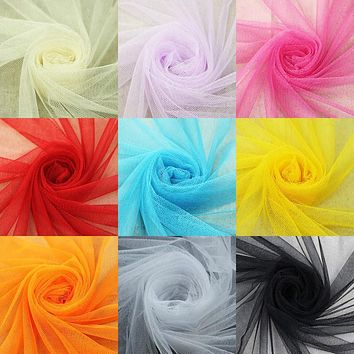 Soft tulle mesh fabric 160*100cm for wedding dress cloth Netting Mosquito net Solid color Soft pettiskirt veil ball gown tutu
