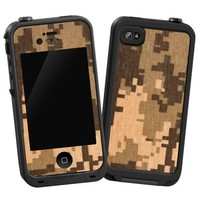"Digital Desert Camouflage ""Protective Decal Skin"" for LifeProof iPhone 4/4s Case"