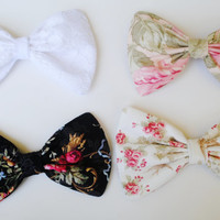 Floral Hair Bows Hair Accessories