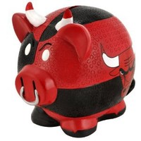NBA Chicago Bulls Resin Large Thematic Piggy Bank