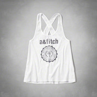cross back logo graphic tank