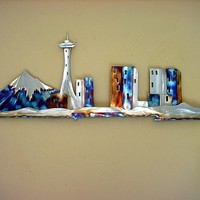 Seattle Space Needle Stainless Steel Metal by steelknightdesigns