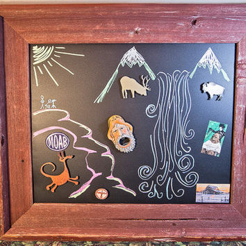 Framed Magnetic Chalk Board