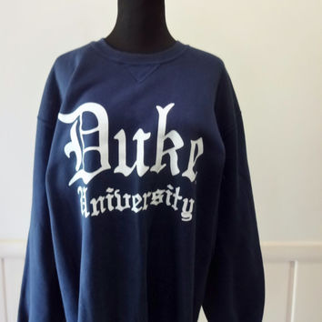 Vintage Duke University Sweatshirt X-Large