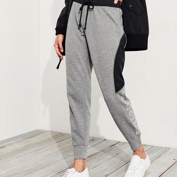 Girls Graphic Mid-Rise Fleece Joggers | Girls New Arrivals | HollisterCo.com