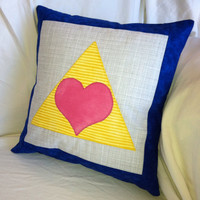 Phi Sigma Sigma Blue and Gold LITP Sorority Pillow