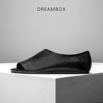 dreambox Summer men's shoes with real leather sandals and sandals for men