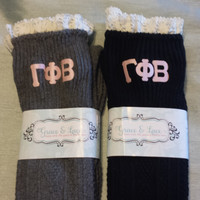GRACE & LACE: Boot Socks - Gamma Phi Beta