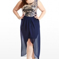 Plus Size High-Low Hello Sequin Dress | Fashion To Figure