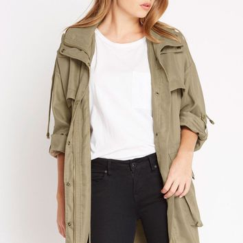Class Rank Utility Drawstring Cargo Jacket