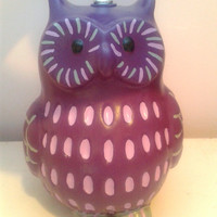 Owl lamp, hand painted