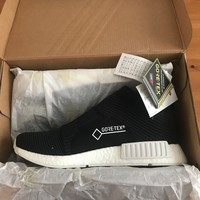ADIDAS NMD CS1 GTX Black/White PRIMEKNIT Boost™ Gore-Tex®, (BY9405), SIZE UK 7
