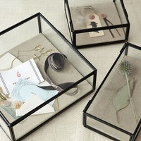 Glass Shadow Boxes - Black