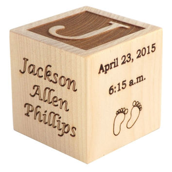 Personalized Baby Birth Block
