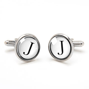 Monogrammed Cufflinks - Simple and Neat
